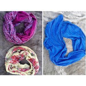 Bundle of 3 Infinity scarves! Scarf old navy H&M
